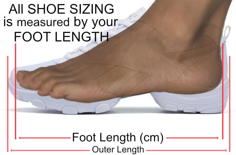 look at me dance shoe sizing image